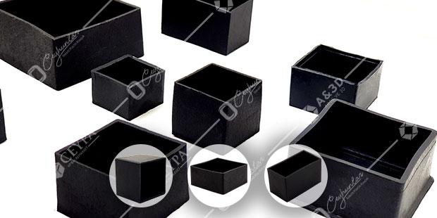 Dış, Düz Elastomer Kutu Profil Tapaları